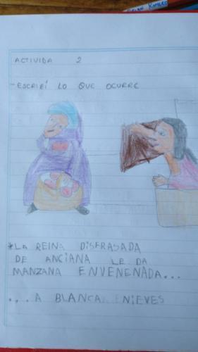 "Un niño de 1er grado escribe sobre ""Blancanieves"" - Escuela N° 11 DE 1"